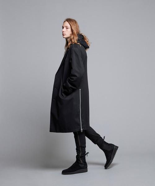 NOISE MAKER(ノイズメーカー)の「Zipper slit big chester coat(チェスターコート)」|ブラック