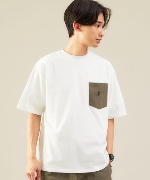 別注 [ グラミチ ] GRAMICCI GLR DN ポケット 5分袖 Tシャツ