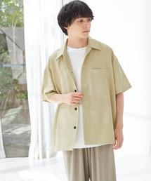 TRストレッチ ビッグステッチ オーバーサイズ レギュラカラーCPOシャツ(1/2 sleeve) -2021SUMMER-イエロー系その他