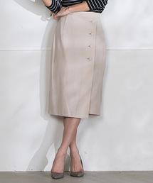 LAUTREAMONT(ロートレ・アモン)のボタンデティールラップスカート(スカート)