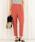 ViS(ビス)の「【EASY CARE】ベルト付きタックテーパードパンツ(パンツ)」|オレンジ