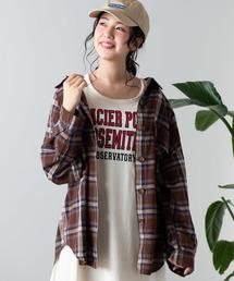 WEGO(ウィゴー)のWEGO/リネンブレンドBIGポケットオーバーシャツ(シャツ/ブラウス)