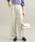 ViS(ビス)の「【EASY CARE】ウォッシャブルフラノワイドパンツ(パンツ)」|グレー