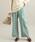 ViS(ビス)の「【EASY CARE】ウォッシャブルフラノワイドパンツ(パンツ)」|ライトグリーン