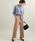 ViS(ビス)の「【EASY CARE】ウォッシャブルフラノワイドパンツ(パンツ)」|詳細画像
