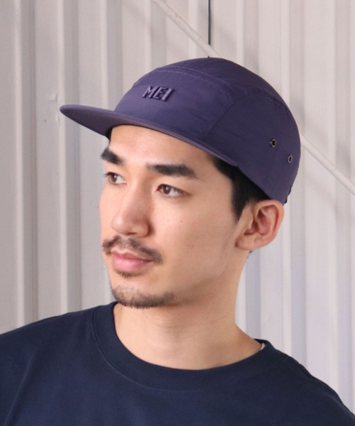 ∴【MEI/メイ】NYLON LOGO PRINT JET 蛍光ジェットキャップ