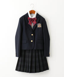 ジャケット+スカート+ブラウス+リボンセット