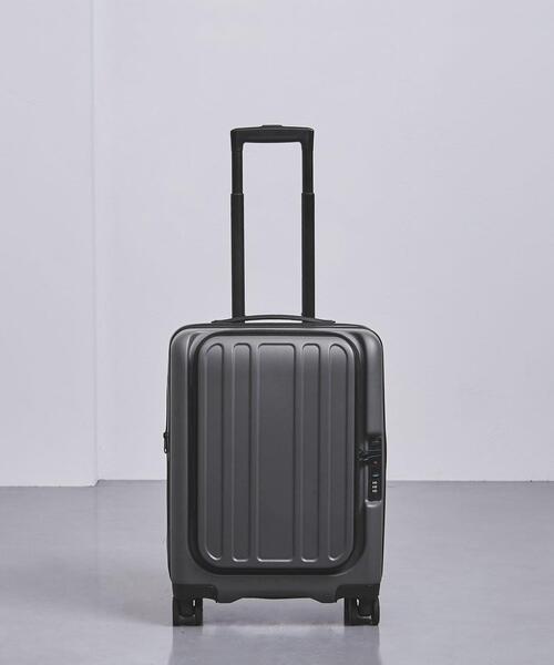 <UNITED ARROWS> スマート グレー スーツケース 33L†