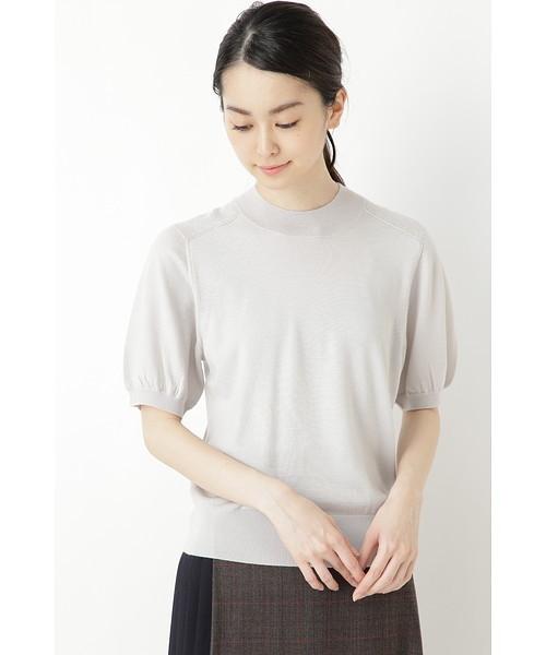 ◆ハイネック半袖プルオーバー