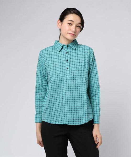 ブロックチェックスキッパーシャツ (LC)