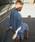 HOLIDAY(ホリデイ)の「RAMIE SLIT DRESS ラミースリットドレス(ワンピース)」|サックスブルー