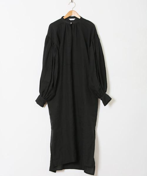 HOLIDAY(ホリデイ)の「RAMIE SLIT DRESS ラミースリットドレス(ワンピース)」|ブラック