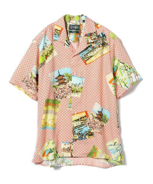 Gitman Vintage / HOKUSAI オープンカラー ショートスリーブシャツ <MEN>