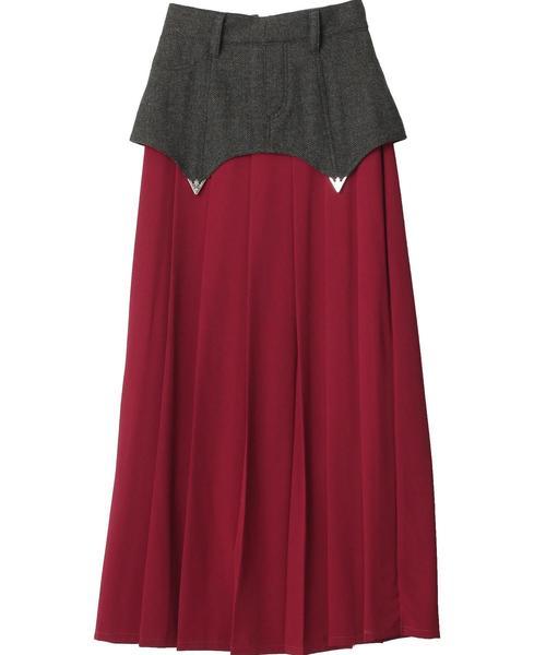 本物品質の Herringbone Pleated Skirt, オオイシダマチ 89bccda7