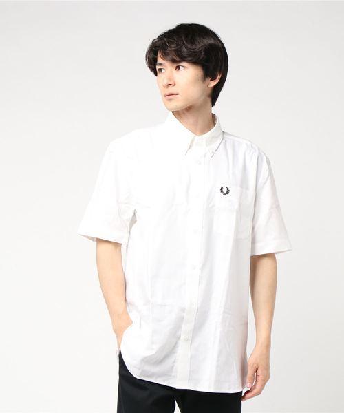 超安い Short Sleeve Oxford Shirt(シャツ Oxford/ブラウス) Sleeve FRED FRED PERRY(フレッドペリー)のファッション通販, 山形の地酒 地酒蔵ゆうき:eefb4ea2 --- kralicetaki.com