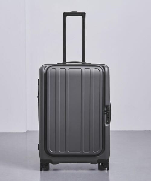 <UNITED ARROWS> スマート グレー スーツケース 66L†