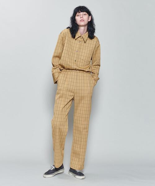 <6(ROKU)>CHECK CUTSEW PANTS/パンツ