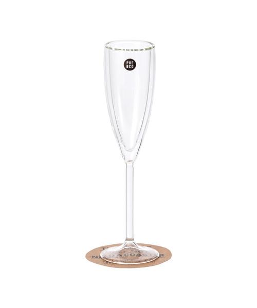 PUEBCO(プエブコ)の「DOUBLE WALL CHAMPAGNE GLASS(グラス/マグカップ/タンブラー)」|クリア