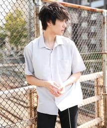 kutir(クティール)の【Youtuberげんじ紹介アイテム】open collor shirt half sleeve / オープンカラー半袖シャツ(シャツ/ブラウス)