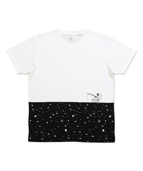 パネルショートスリーブTシャツ/スペースフィッシング
