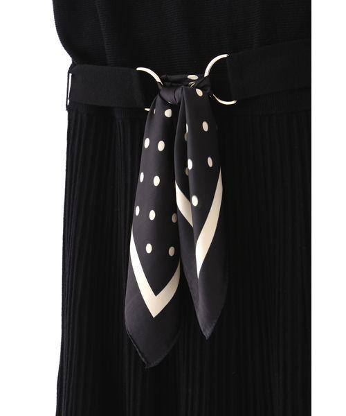 PROPORTION BODY DRESSING(プロポーションボディドレッシング)の「スカーフベルトニットワンピース(ワンピース)」|詳細画像