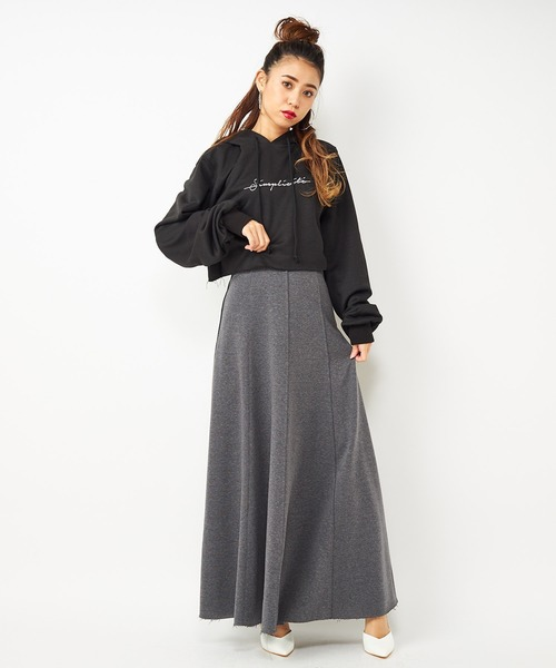 スウェットマキシスカート
