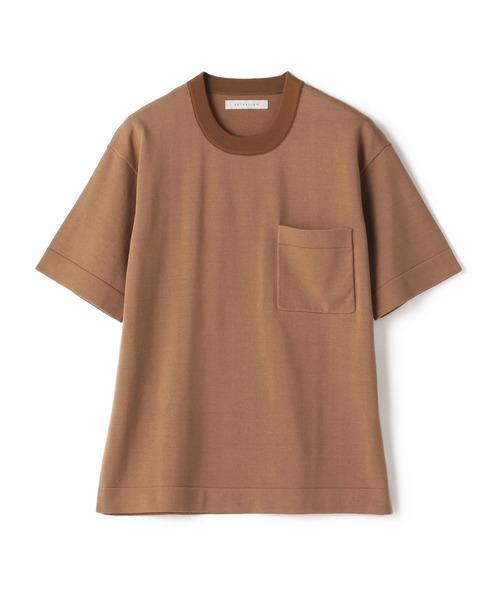 ESTNATION / クルーネック半袖ニットTシャツ