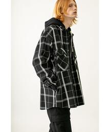 <monkey time> HEAVY OMBRE CHECK OVER SIZED CPO/オーバーサイズドシャツ