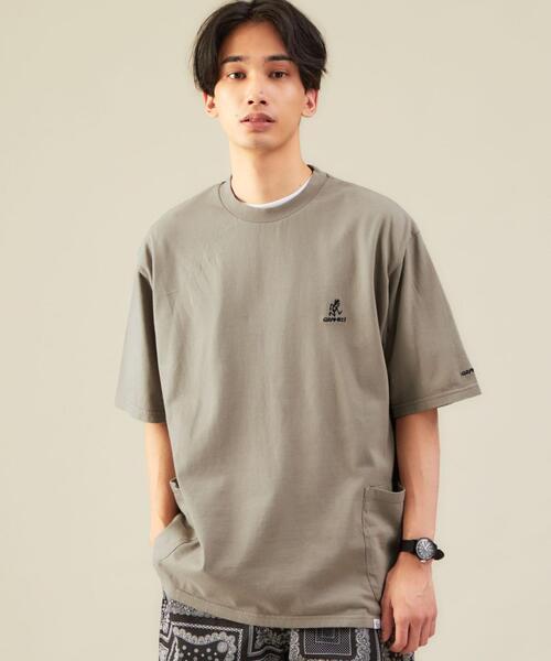 別注 [ グラミチ ] GRAMICCI GLR ウエスト ダブルポケット Tシャツ ·
