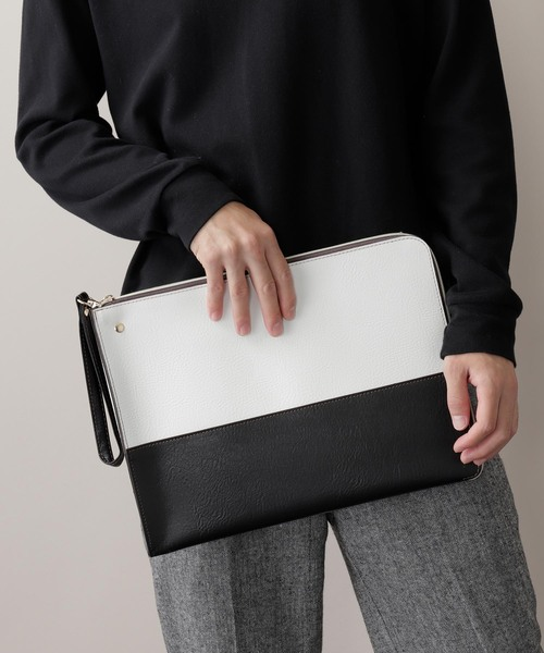 28e2f0db72dd MONO-MART(モノマート)のPU Leather Square Clutch Bag(クラッチバッグ)