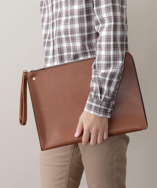 PU Leather Square Clutch Bag
