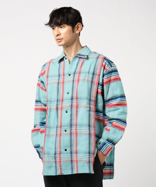 N.HOOLYWOOD SPRING & SUMMER 2019 COLLECTION LINE LAYERD SHIRT (ORIGINAL CHECK)