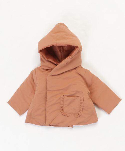 CALMIA(カルミア)の「ビッグフリルポケットジャケット(80〜120cm)(ダウンジャケット/コート)」|オレンジ