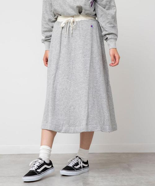 【WEB限定色⇒ネイビー】Champion(チャンピオン) スウェットスカート