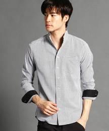 NICOLE CLUB FOR MEN(ニコルクラブフォーメン)のショートイタリアンカラー長袖シャツ(シャツ/ブラウス)