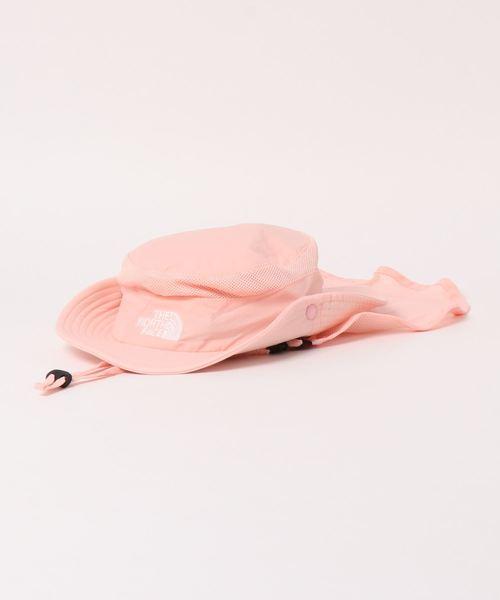 THE NORTH FACE(ザノースフェイス)の「THE NORTH FACE/ザ・ノースフェイス/sunshield hat/キッズ用サンシールドハットNNJ02007(ハット)」 ピンク
