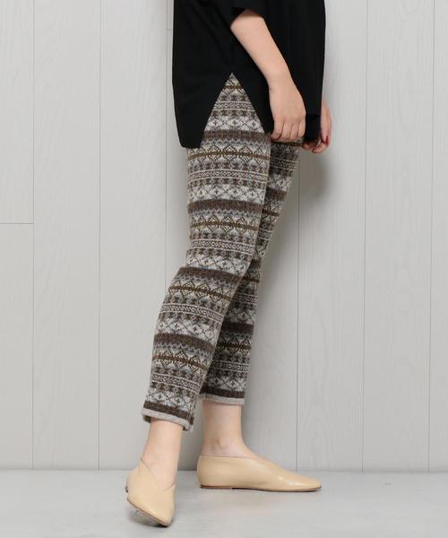 <H>FAIRISLE PANTS/パンツ