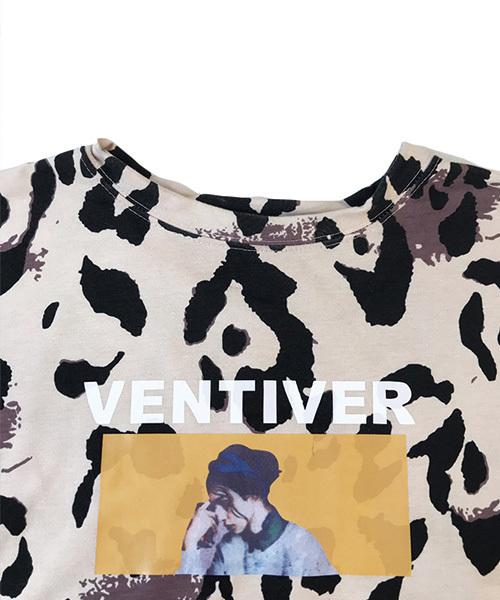 レオパード柄転写プリントBIG Tシャツ