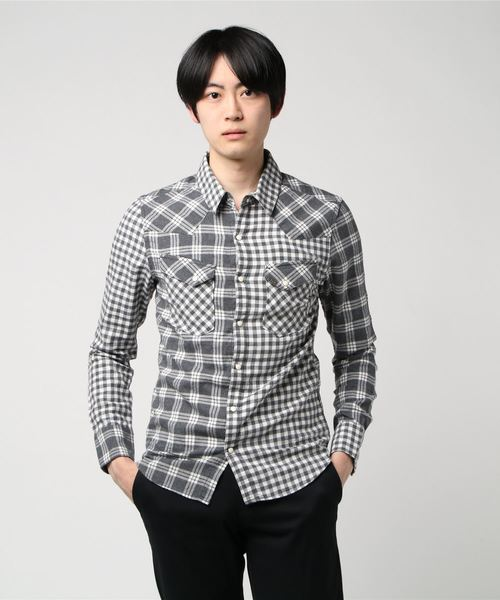 L/S CHECK WESTERN SHIRT