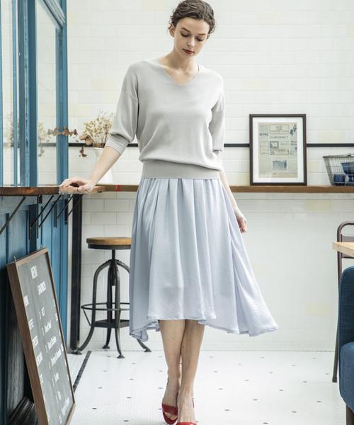 【STYLEBAR】サマーニットセットドレス
