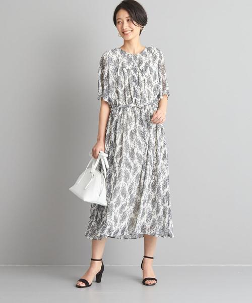 【WORK TRIP OUTFITS】★WTO CS PE ウエストギャザー ワンピース