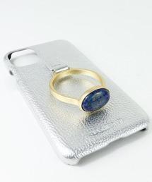 【 Hashibami / ハシバミ 】  iPhone 11/XR スマホ・携帯カバー 天然石リング付きケースシルバー