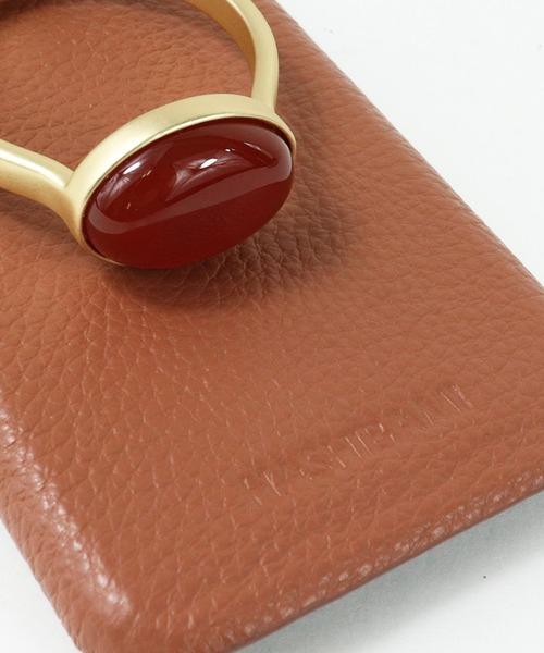 【 Hashibami / ハシバミ 】 # iPhone 11/XR スマホ・携帯カバー 天然石リング付きケース