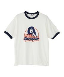 QUEENPIN Tシャツネイビー