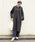 LEPSIM(レプシィム)の「ウラケスリットVネックフードワンピース 830021(ワンピース)」|チャコールグレー