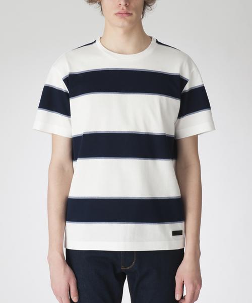 BLACK LABEL CRESTBRIDGE(ブラックレーベル・クレストブリッジ)の「ラガーボーダーT(Tシャツ/カットソー)」|オフホワイト
