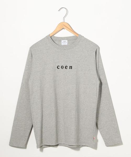 coenチビロゴロングスリーブTシャツ