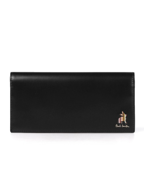 Paul Smith(ポールスミス)の「マーケトリーストライプラビット 長財布 / 873734 P165(財布)」|ブラック