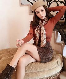eimy istoire(エイミーイストワール)のダマスクジャガードベルトミニスカート(スカート)