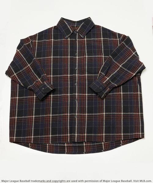 【MLB】チェック柄ネルシャツ